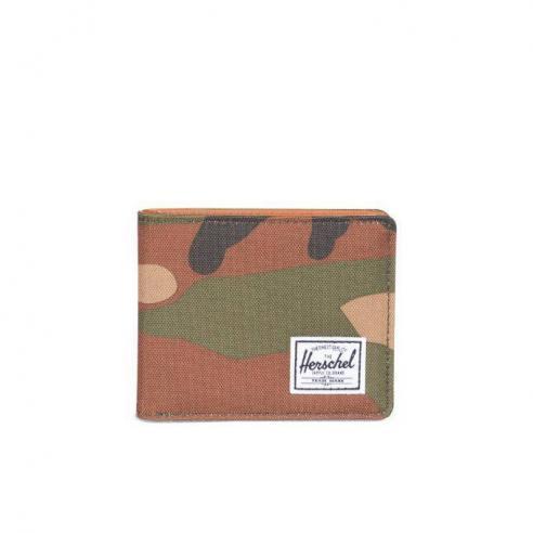 Cartera Herschel Hank Woodland camo / Tan Synthetic leather
