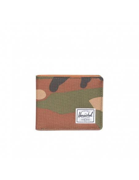 Cartera Herschel Hank Woodland camo / Tan Synthetic leather
