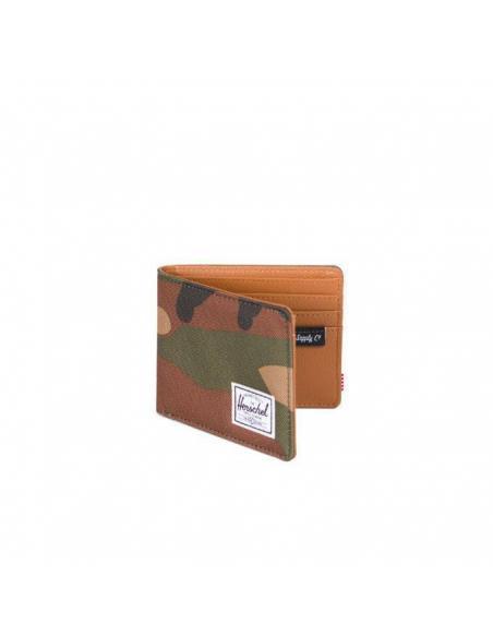 Herschel Hank Wallet Woodland camo / Tan Synthetic leather