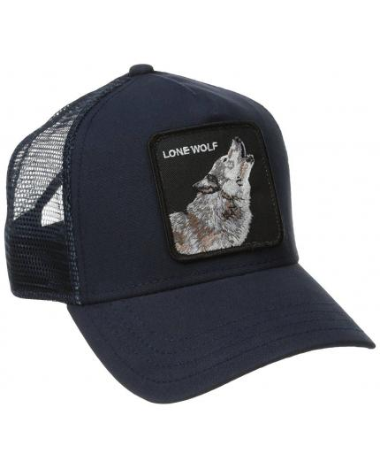 Goorin Bros Lone Wolf Navy Animal Farm Trucker Hat