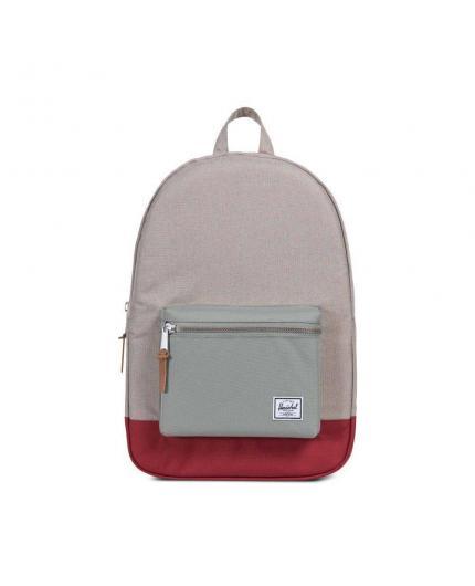 Herschel Settlement Light Khaki Crosshatch/Shadow/Brick Red Backpack