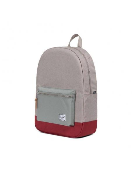 Herschel Settlement Light Khaki Crosshatch/Shadow/Brick Red Backpack