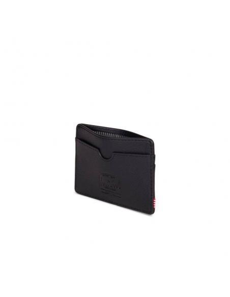 Herschel Charlie Black Pebbled Leather/RFID Card Wallet