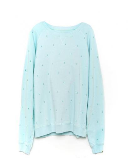 Tiwel Kubo Ice blue melange sweatshirt