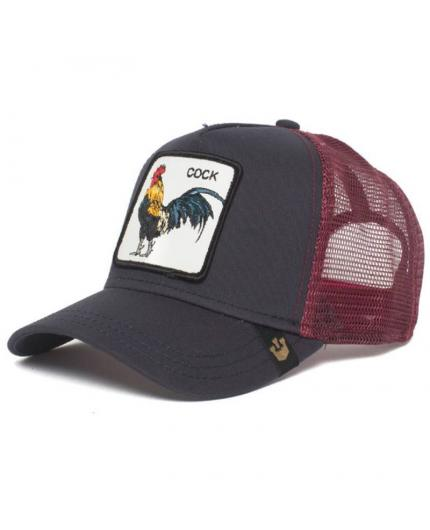Gorra Goorin Bros Prideful Gallo Negro y Granate