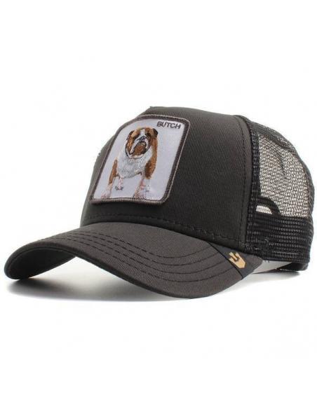 9f1cb9980a976 Goorin Bros Butch Black Dog Bulldog Trucker Cap