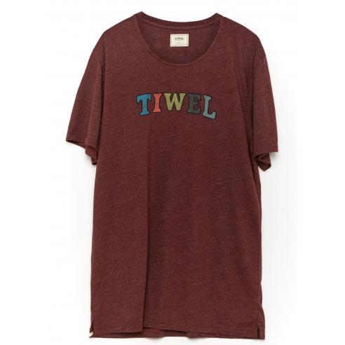 Tiwel Multi Tee Marsala Melange T-shirt