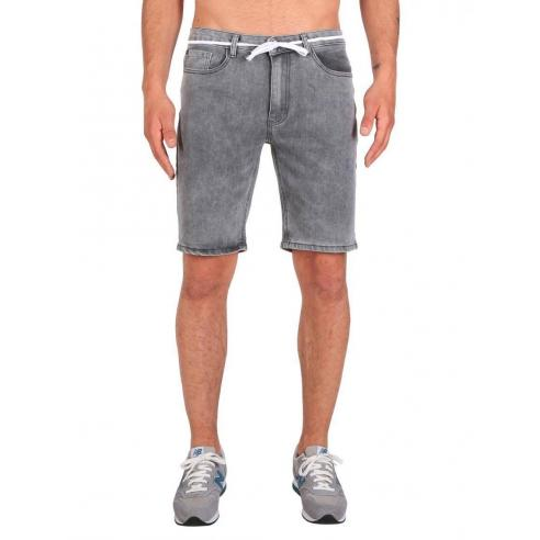 Iriedaily Slim Shot 2 Denim short Grey Bleach wash