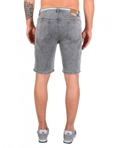 Bermuda Iriedaily Slim Shot 2 Denim short Grey Bleach wash