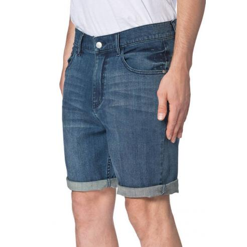 Bermuda Globe Goodstock Denim Walkshort 2.0 Stomp Blue