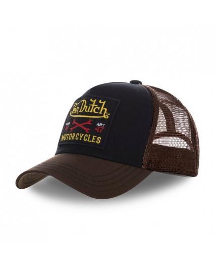 Von Dutch Square10 Black Brown Cap