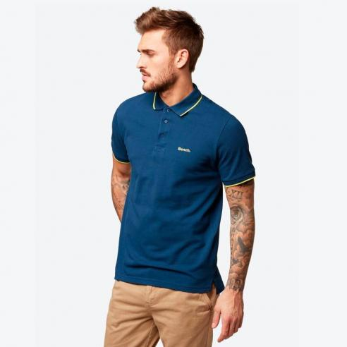 Polo Bech with y/d stripes azul marino