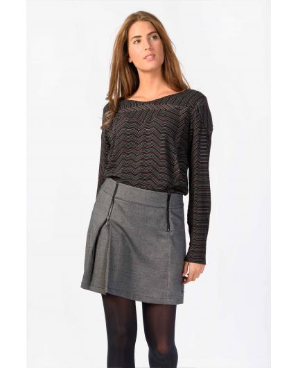 Skunkfunk Demiku Black/Beige Skirt