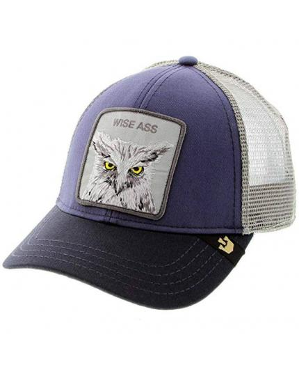 Goorin Bros Smarty Pants X the Owl Wise Ass Navy Animal Farm Trucker Hat