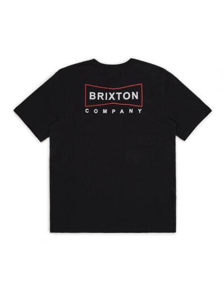 Camiseta Brixton Wedge S/S Henley Black