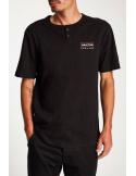 Camiseta Brixton Wedge S/S Henley Black