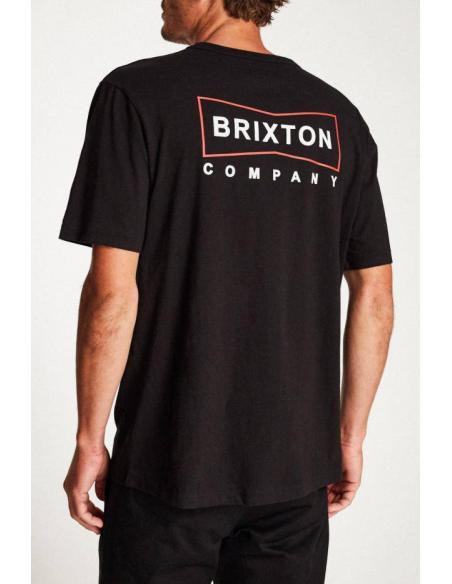 Brixton Wedge S/S Henley Black T-Shirt
