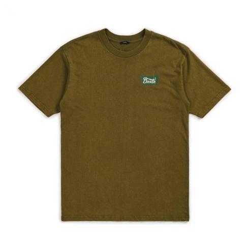 Brixton Stith Standard Olive T-Shirt