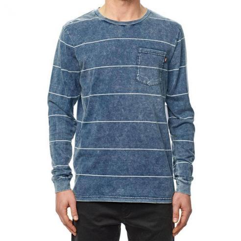 Camiseta Globe Moonshine pocket L/S Midnight indigo