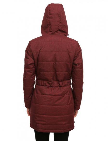 Iriedaily Youriko Step Maroon Mel Coat