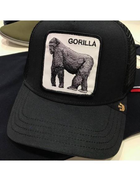 Gorra Goorin Bros King of the jungle black - Gorila Animal Farm Trucker Hat