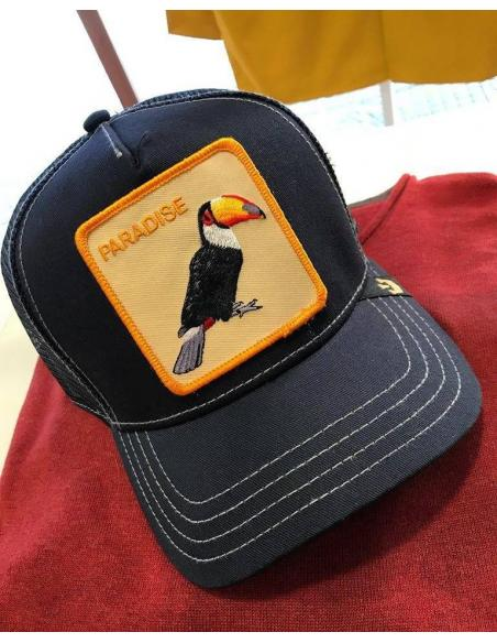 Goorin Bros Take to me Navy Tucan Animal Farm Trucker Hat