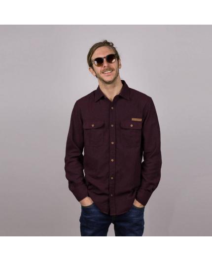 Camisa Hydroponic Potrero Burgundy