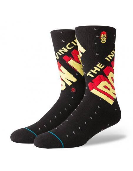 Stance Invincible Iron Man black Marvel socks