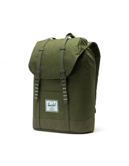 Mochila Herschel Retreat 19,5L Olive Night Crosshatch/Olive night