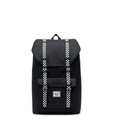 Herschel Little America Mid-Volume 17L Black/Checkboard Backpack