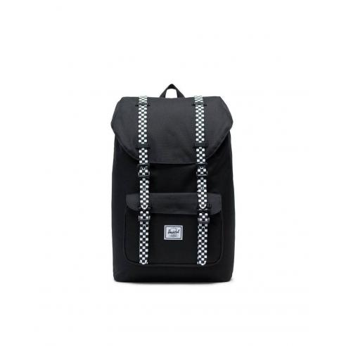 Mochila Herschel Little America Mid-Volume 17L Black/Checkboard