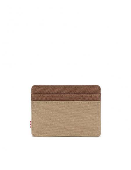 Herschel Charlie  Kelp/Saddle Brown RFID Card Wallet