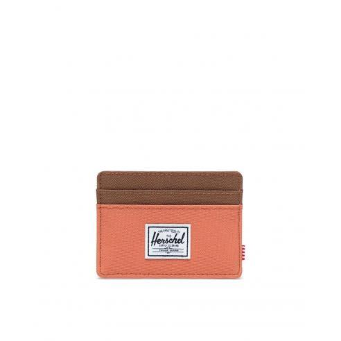 Herschel Charlie Tarjetero Cartera Apricot Brandy/Saddle Brown RFID
