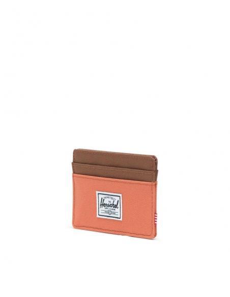 Herschel Charlie Apricot Brandy/Saddle Brown RFID Card Wallet