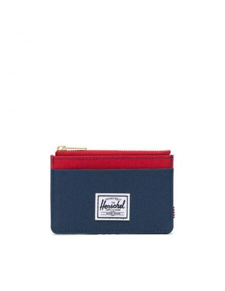 Tarjetero Herschel Oscar con monedero Navy Red /RFID