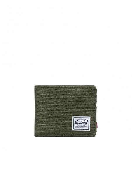 Herschel Roy wallet Olive night Crosshatch/Olive night RFID