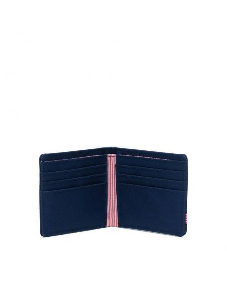 Cartera Herschel Roy Medieval Blue Crosshatch/Medieval Blue RFID