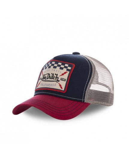 Gorra Von Dutch Square16 azul y rojo