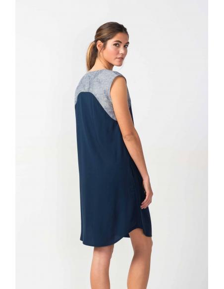 Vestido SKFK Atasis Azul oscuro