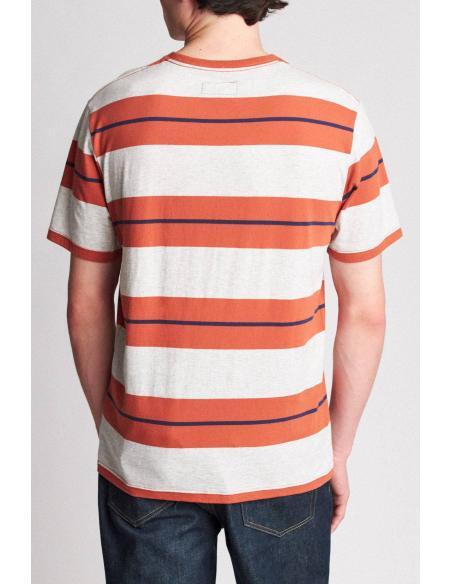 Brixton Hilt Pocket Henna/ash T-Shirt