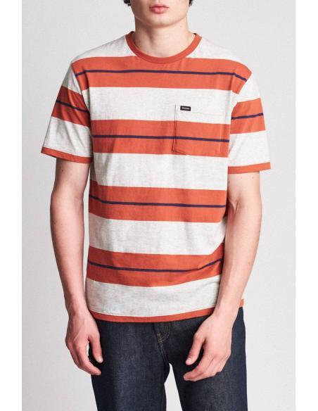 Camiseta Brixton Hilt Pocket Henna/ash