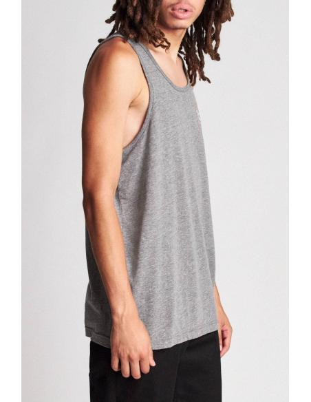 Brixton Wheeler Heather grey/Henna Tank T-Shirt