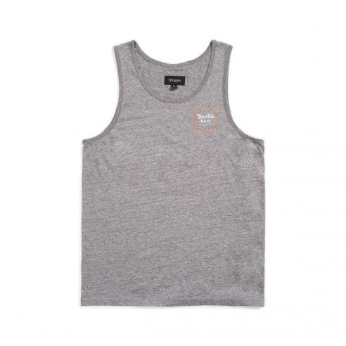 Camiseta Brixton WheelerTank Heather grey/Henna