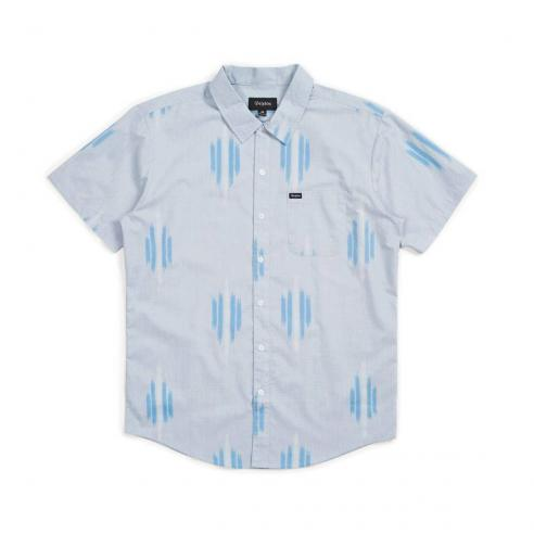 Brixton Charter Print S/S Light blue/White Shirt