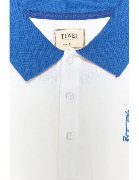Polo Tiwel Block Snow white