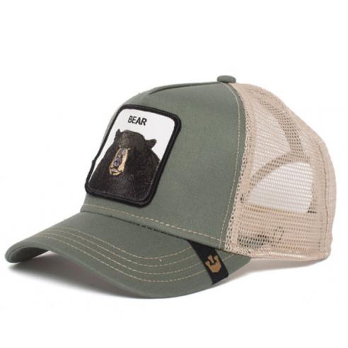 Goorin Bros Olive Bear Animal Farm Trucker Hat