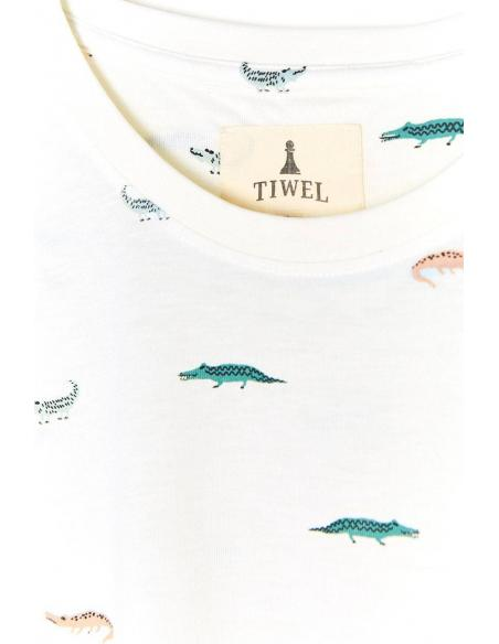 Tiwel Allies Off white melange T-shirt