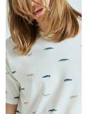 Tiwel Allies Off white melange T-shirt