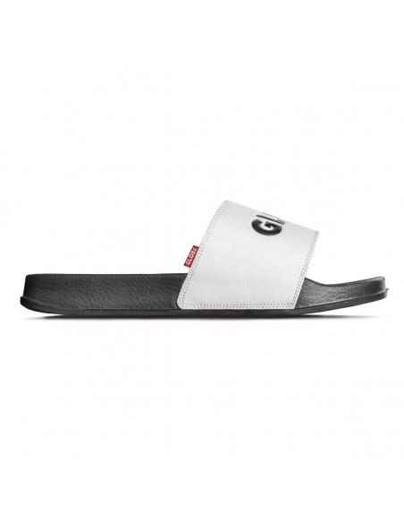 Chanclas Globe Unfazed Slide Blanco y Negro