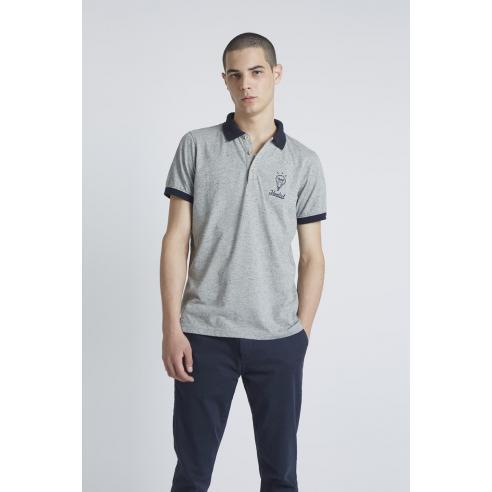 Tiwel Ideal Mid Grey Nepp Polo Shirt
